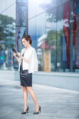 Beautiful business woman doing portrait