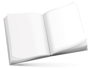 Buch, Notizbuch blank, ausfüllbar, freigestellt