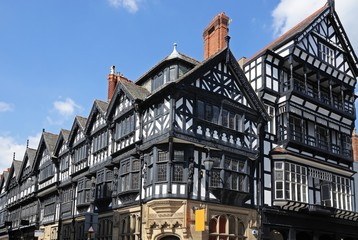 Tudor buildings, Chester © Arena Photo UK