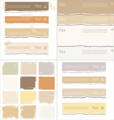 Torn and grunge paper collection