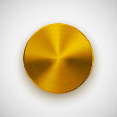 Gold Gold Abstract Circle Button Template