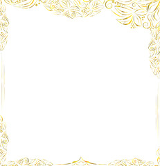 Gold frame  in luxury style