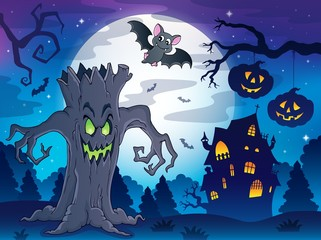 Scenery with Halloween thematics 2