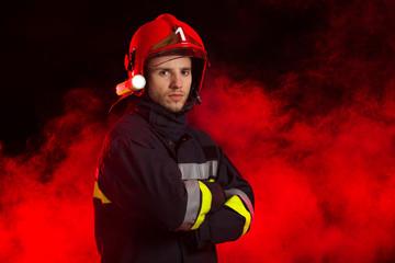 Portrait of the fireman