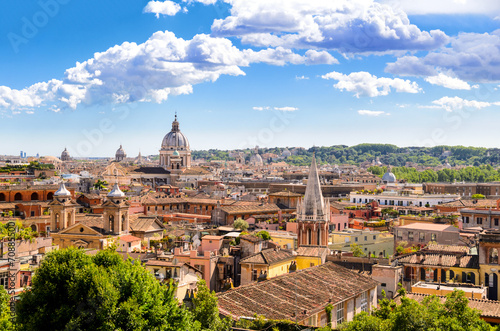 Foto op Canvas Rome Rome and St. Peter's Basilica