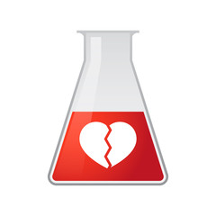 Chemical test tube with a heart