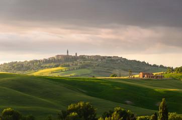 sunset view of Pienza