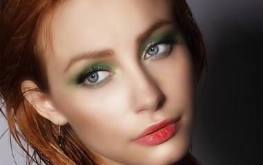 Visage. Close Up Portrait of Young Pretty Woman