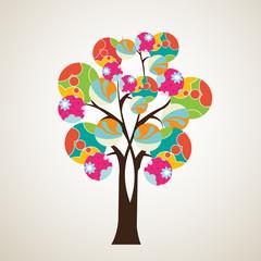 Stylized vector tree-Tree illustration