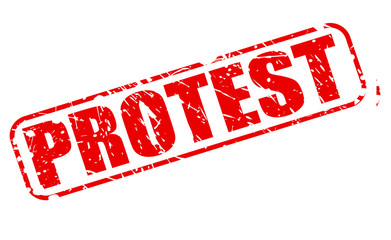 Protest red stamp text