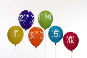Luftballon Zahlen