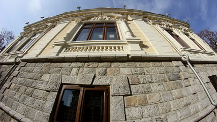Old building in Dobrogea/Romania.Dolly shot.