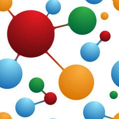 SCIENTIFIC Seamless Pattern (chemistry molecules atoms)