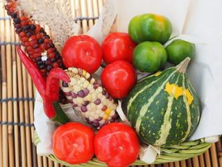 秋の飾り野菜