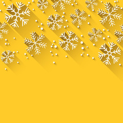 Christmas yellow abstract background.