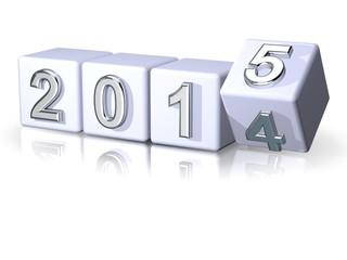 2014 > 2015 Würfel Perspektive Silvester Banner