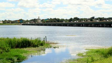 Time Lapse bridge I-4 Orlando FL tilt shift effect