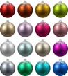 Set of realistic christmas balls.