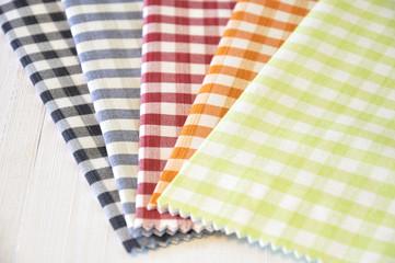 Checkered pattern fabrics