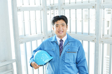 笑顔の労働者