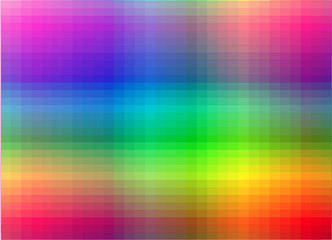 Vector colorful pixel effect background.