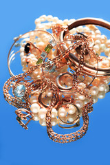 Jewelry On Blue