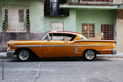 Foto op Canvas Zuid-Amerika land vintage cuban car
