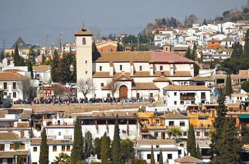 Mirador de San Nicolás desde la Alhambra, Granada, España