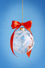 Christmas ball with bow