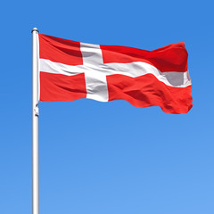 Wehende Flagge von Dänemark