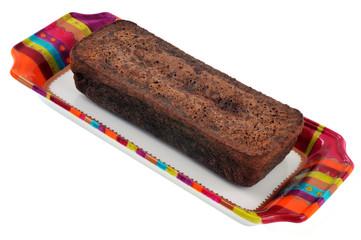 Gâteau au chocolat dans un plat