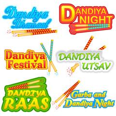 People doing Dandiya