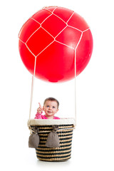 kid on hot air balloon