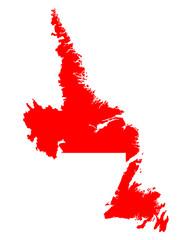 Karte von Newfoundland and Labrador