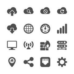 computer network icon set, vector eps10