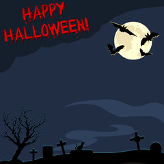 Vector Halloween Postcard with Space for Text.