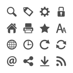 website menu icon set, vector eps10