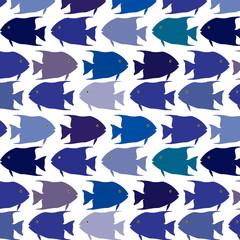seamless  pattern school of fish