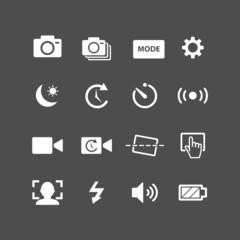 camera app icon set, vector eps10