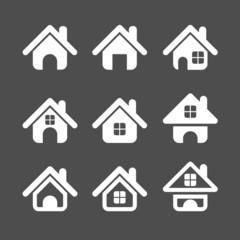 house icon set, vector eps10