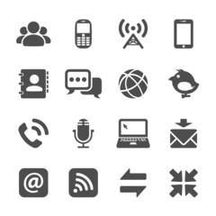 internet communication icon set, vector eps10