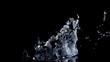 Water splash on black (slow motion, alpha matte, full hd)
