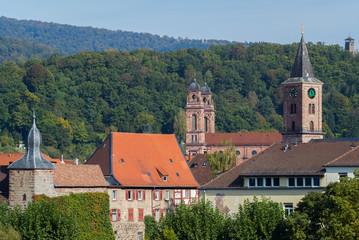 Eberbach (Baden), Odenwald / Ansicht Altstadt