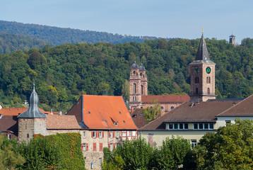 Eberbach (Baden, Odenwald) Blick auf die Altstadt