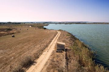 Sardegna, veduta dello stagno di Cabras, Oristano