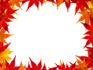 Herbstlaub als Rahmen