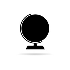 globe of the world black vector