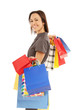 Frau mit Shoppingtüten