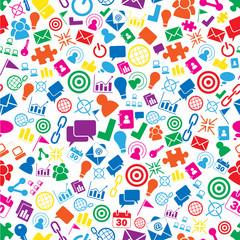 WEB ICONS Seamless Pattern (online internet media social)