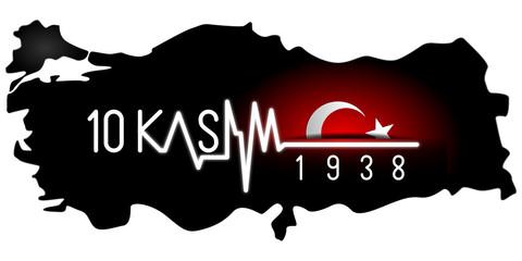 Tipografi Çalışması; 10 Kasım 1938 Türkiye